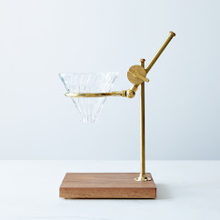 Brass & Walnut Pour Over Coffee Stand