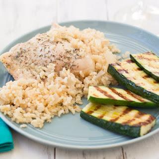 Parmesan Chicken and Rice Casserole.