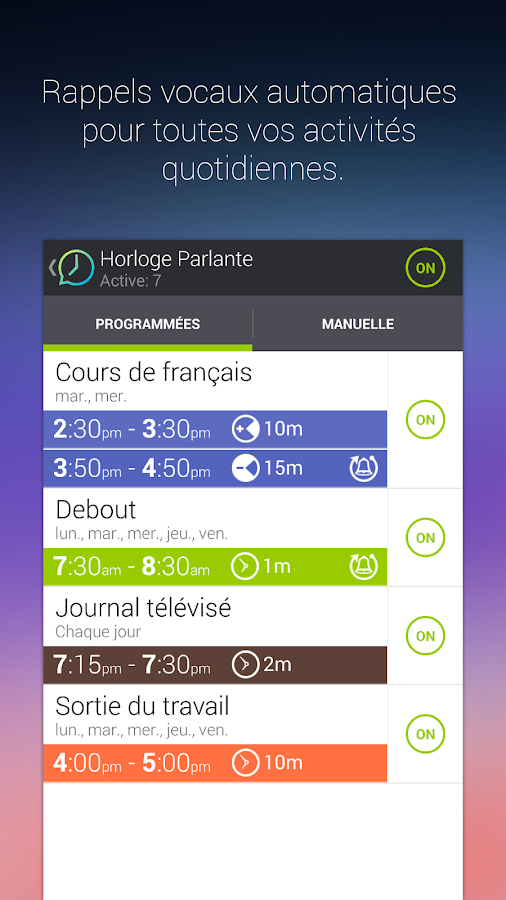 Horloge Parlante- screenshot