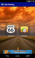 Screenshot of Trip Planning