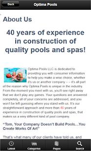 Optima Pools - screenshot thumbnail