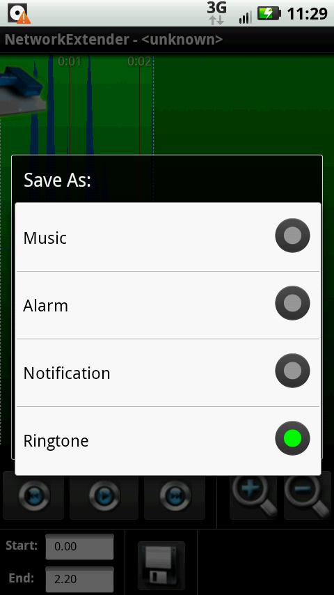 Ringtone creator - screenshot