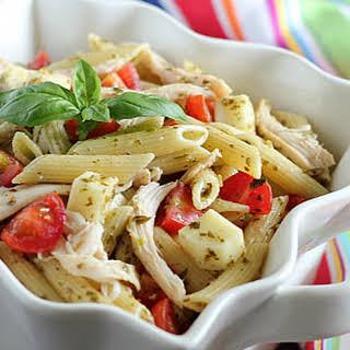 Caprese Chicken Pasta Salad.