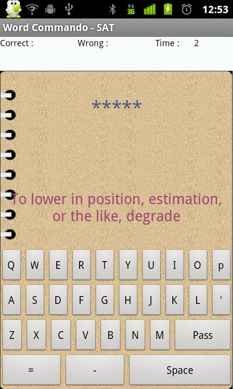 SAT vocabulary , word memory - screenshot