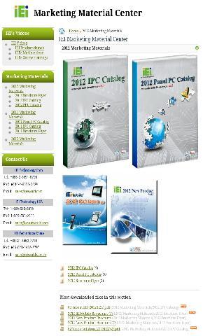 IEI Marketing Material Center