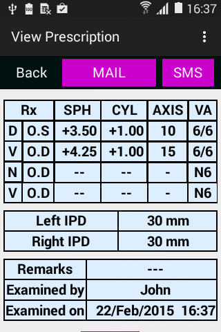 Opticals Patient Manager- screenshot