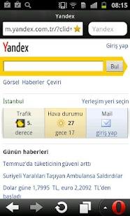 Yandex.Opera Mini - screenshot thumbnail