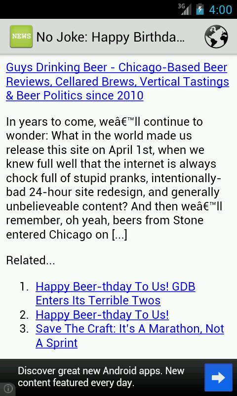 Beer News- screenshot