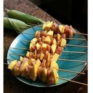 Mango Chicken Kabobs
