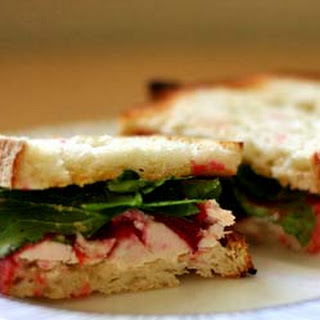 Toasted Turkey Cranberry Arugula Sandwich