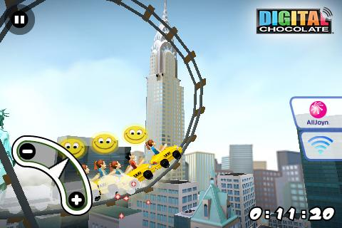 3D Rollercoaster Rush New York - screenshot