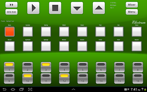 Electrum Drum Machine DEMO - screenshot thumbnail