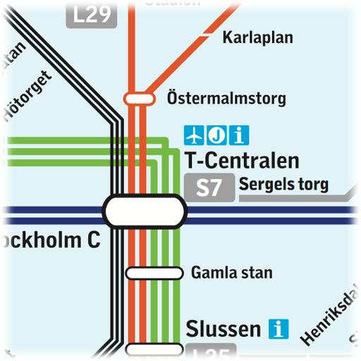 斯德哥尔摩地铁图 LOGO-APP點子