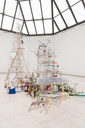 Sarah Sze: Fixed Points Finding a Home, 2012