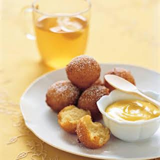 Lemon-Ricotta Fritters with Lemon Curd.