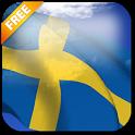 3D Sweden Flag icon