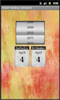 Screenshot of Easter Sunday Calculator