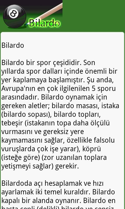 Bilardo - screenshot