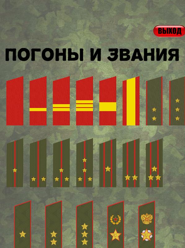 Военное звание картинки