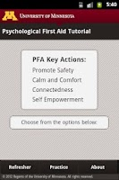 Screenshot of Psychological First Aid (PFA)