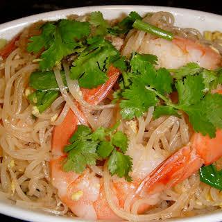 Thai Noodles with Shrimp.