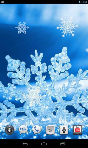 Ice Snowflake live wallpaper