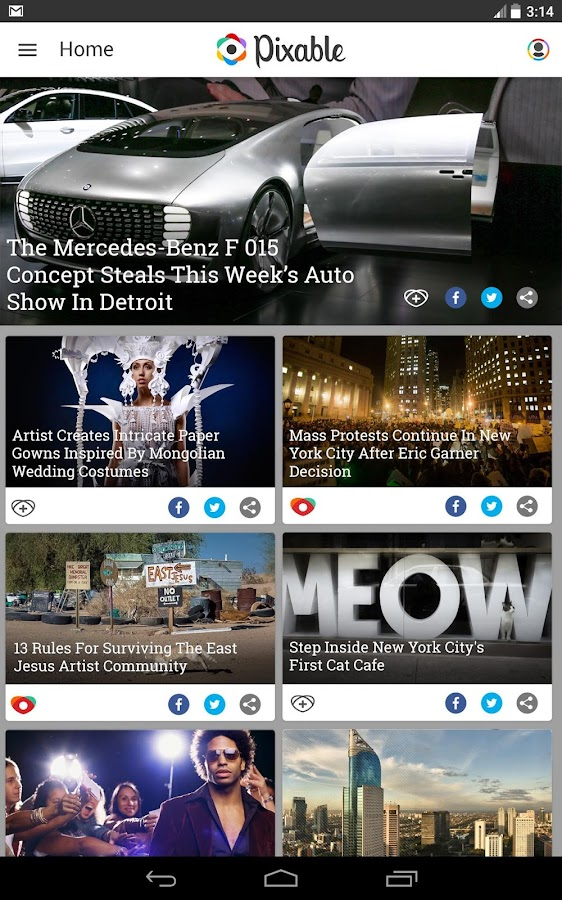 Pixable - Trending News - screenshot