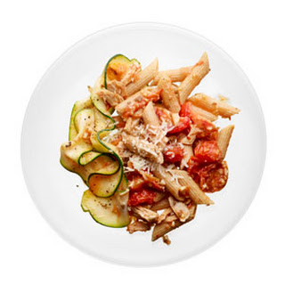 Penne with Tuna and Fresh Tomato Sauce.