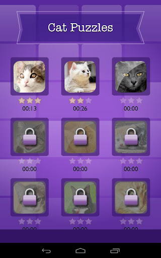 Cat + Kitten Quiz Slide Puzzle