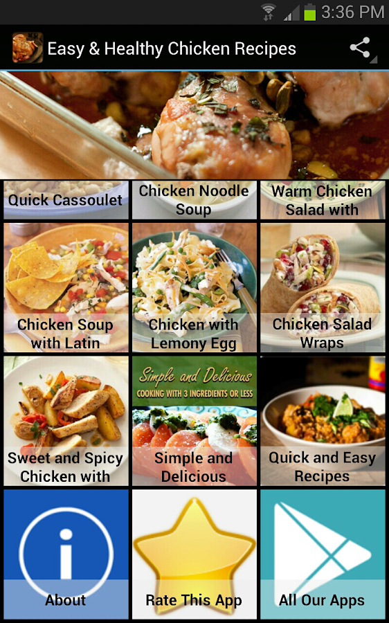 Easy & Healthy Chicken Recipes - screenshot