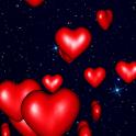 Hearts 3D Live Wallpaper logo