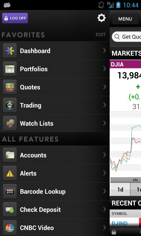 E*TRADE Mobile - screenshot