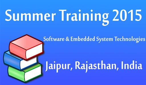 Summer Internship 2015 Jaipur