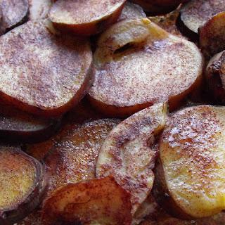 Sweet Potatoes with Sugar and Cinnamon.