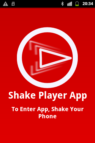 Shake player video audio