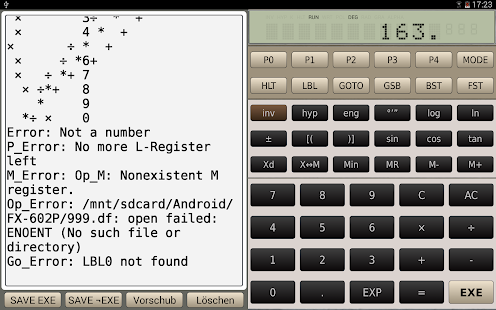FX-602P scientific calculator- screenshot thumbnail