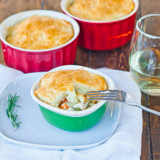 Individual Easy Chicken Pot Pies.