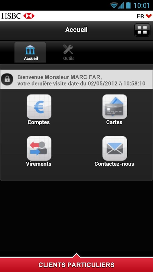 HSBC Entreprises- screenshot