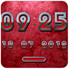 RED DIGITAL Clock icon