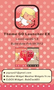 LoveCupidG Theme GO LauncherEX - screenshot thumbnail