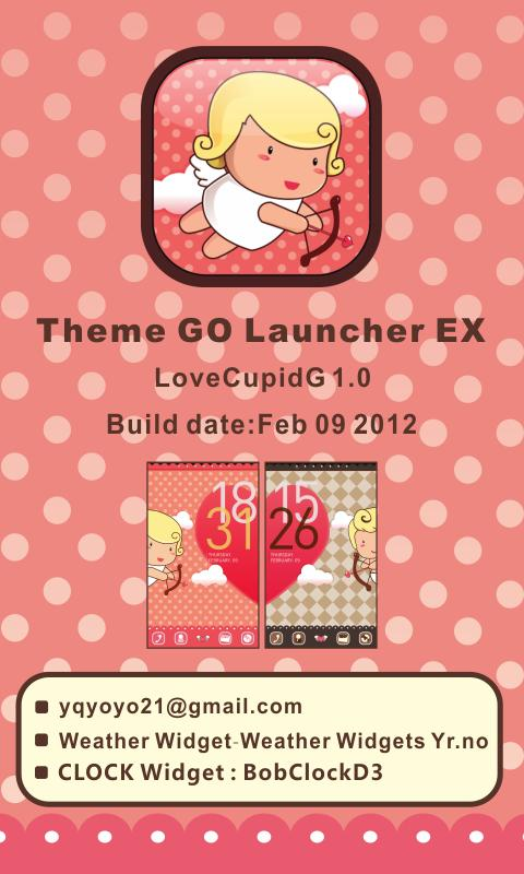 LoveCupidG Theme GO LauncherEX - screenshot
