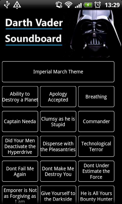 Darth Vader Soundboard - screenshot