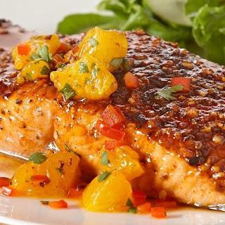 Sweet 'n Smoky Salmon with Orange Salsa