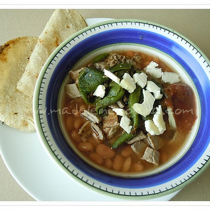 Beans with Skirt Steak and Poblano Peppers