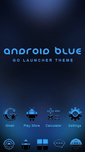 GO Theme Android Blue