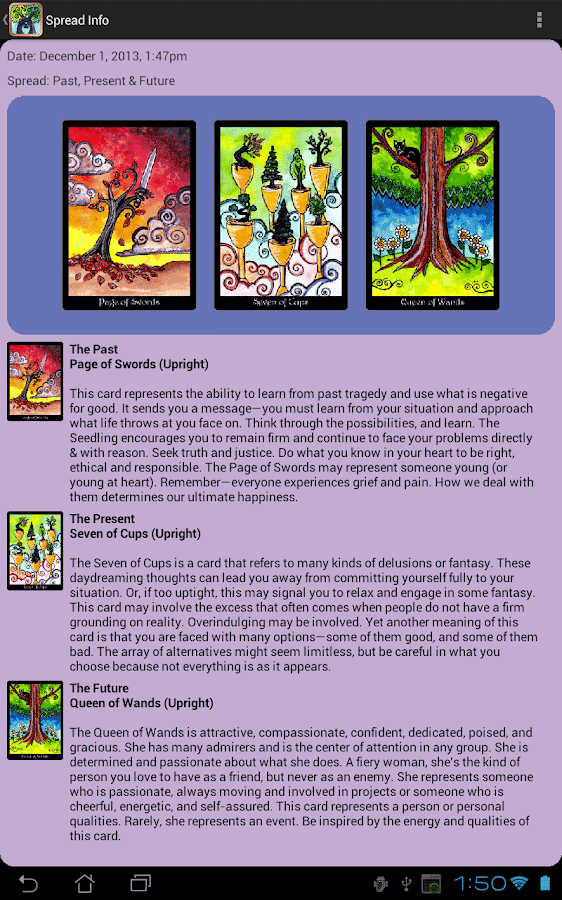 Tarot of Trees- screenshot