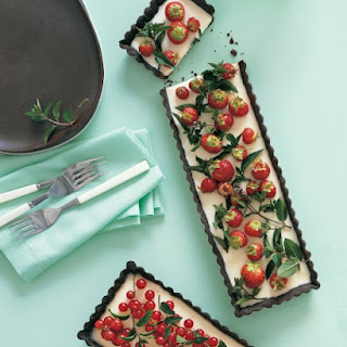 Chocolate-Peppermint Tarts with Currants and Berries