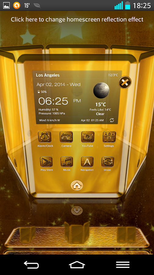 Next Launcher 3D Theme Golden- screenshot