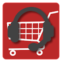 Talking voice shopper icon