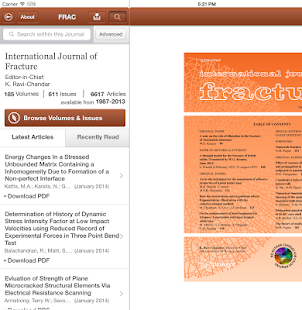 Intl Journal of Fracture - screenshot thumbnail